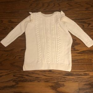 Kid's Baby Gap Cream Cable Knit Sweater Dress